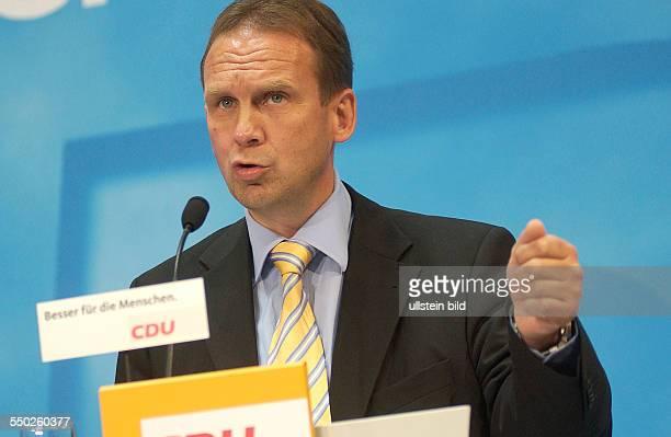 Dieter Althaus anlöässlich der Pressekonferenz der CDU in Berlin