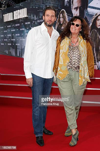 Dieter Bach and Gabo attend the German premiere of 'Total Recall' at Sony Center on August 13 2012 in Berlin Germany