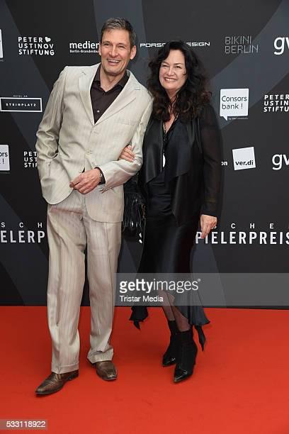 Dieter Bach and Gabriele Gabo OestreichTrivellini attend the Deutscher Schauspielerpreis 2016 on May 20 2016 in Berlin Germany