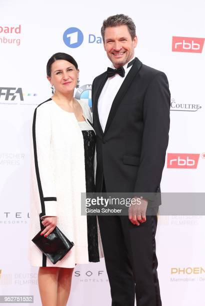 Dieter Bach and guest during the Lola German Film Award red carpet at Messe Berlin on April 27 2018 in Berlin Germany