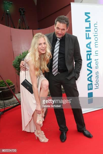 Dieter Bach and Larissa Marolt during the Bavaria Film reception during the Munich Film Festival 2017 at Kuenstlerhaus am Lenbachplatz on June 27...