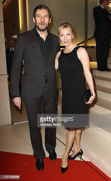 Dieter Bach and partner attend the 'Deutscher Hoerfilmpreis 2011' at the Atrium Deutsche Bank on March 15 2011 in Berlin Germany