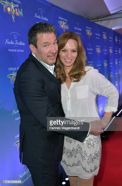 Dieter Bach and Viola Wedekind attend the premiere of Totem by Cirque du Soleil at Theresienwiese on February 13 2020 in Munich Germany