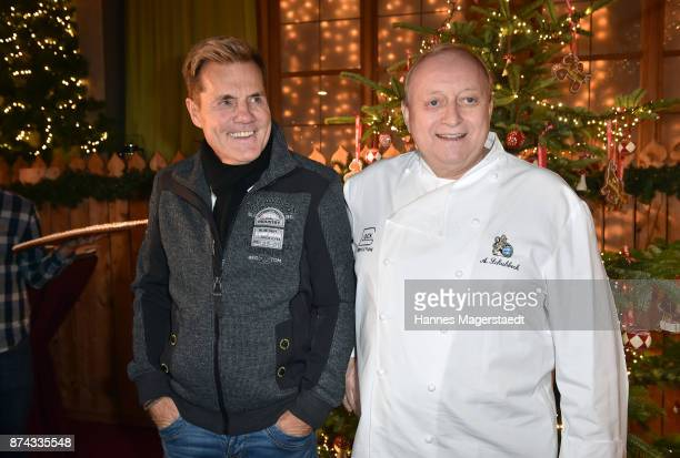 Dieter Bohlen and Alfons Schuhbeck during the Gut Aiderbichl Christmas Market opening on November 14 2017 in Henndorf am Wallersee Austria