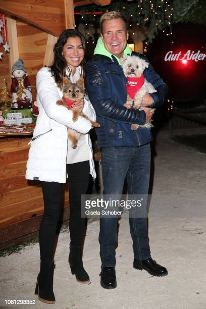 Dieter Bohlen and his partner Carina Walz and dogs during the Gut Aiderbichl Christmas Market opening on November 13 2018 in Henndorf am Wallersee...