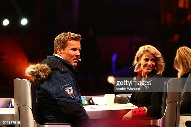 Dieter Bohlen and Michelle during the third event show of the tv competition 'Deutschland sucht den Superstar' at Landschaftspark Duisburg on April...