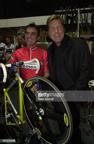Dieter Bohlen Andreas Kappes '39 Bremer 6TageRennen' Bremen 'Bremer Stadthalle' rotes Trikot Rad Sport Rennrad Fahrrad Fahrer Radrennfahrer