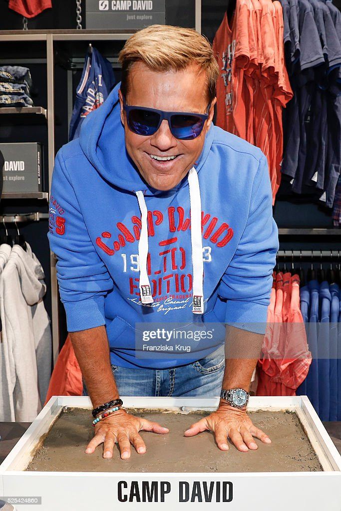 lowest price d6356 02682 Dieter Bohlen attends the CAMP DAVID new flagship store 'The ...