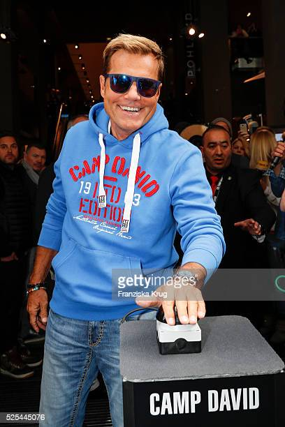 Dieter Bohlen attends the CAMP DAVID new flagship store 'The Store' opening on April 28 2016 in Oldenburg Germany