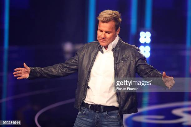 Dieter Bohlen during the semi finals of the TV competition 'Deutschland sucht den Superstar' at Coloneum on April 28 2018 in Cologne Germany For...