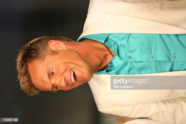 Dieter Bohlen gives a interview after Mark Medlock wins the singer qualifying contest DSDS Final show on May 05 2007 at the Coloneum in Cologne...