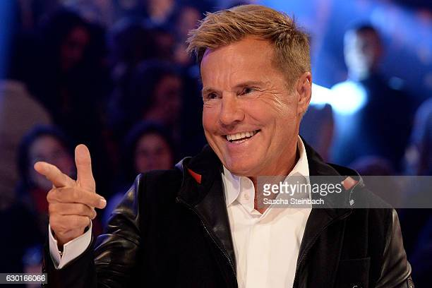Dieter Bohlen reacts during the finals of the tv show 'Das Supertalent' at MMC studios on December 17 2016 in Cologne Germany