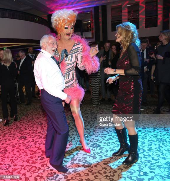 Dieter Didi Hallervorden and his girlfriend Christiane Zander and Olivia Jones during the Movie Meets Media MMM event on the occasion of the 68th...