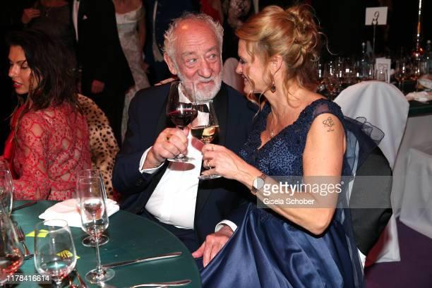 Dieter Didi Hallervorden and his girlfriend Christiane Zander attend the 25th Leipzig Opera Ball La Dolce Vita in Suedtirol at Oper Leipzig on...