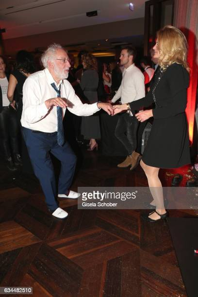 Dieter Didi Hallervorden and his girlfriend Christiane Zander dance in slippers during the Berlin Opening Night by GALA and UFA Fiction at hotel 'The...