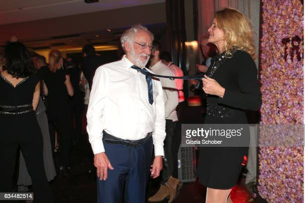Dieter Didi Hallervorden and his girlfriend Christiane Zander dance during the Berlin Opening Night by GALA and UFA Fiction at hotel 'The Stue' on...