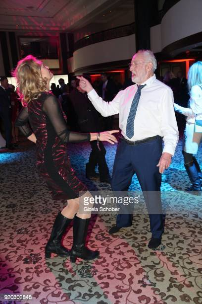 Dieter Didi Hallervorden and his girlfriend Christiane Zander dance during the Movie Meets Media MMM event on the occasion of the 68th Berlinale...