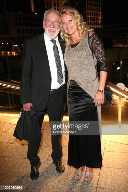 Dieter Didi Hallervorden and his girlfriend Christiane Zander during the 100th bitrhday celebration gala for Artur Brauner at Zoo Palast on September...