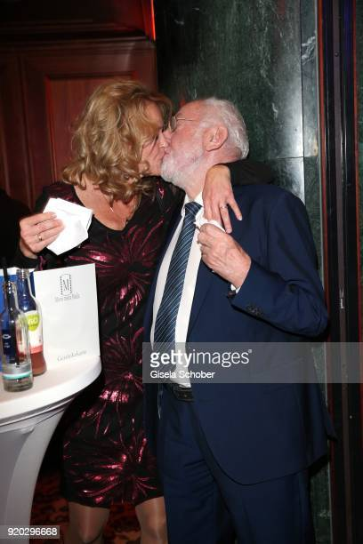 Dieter Didi Hallervorden and his girlfriend Christiane Zander kiss during the Movie Meets Media MMM event on the occasion of the 68th Berlinale...