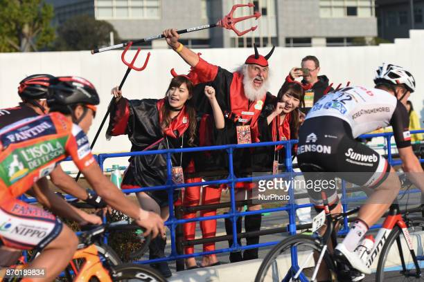Dieter 'Didi' Senft El Diablo and 'his team' in action during the 589km Main Race of the 5th edition of TDF Saitama Criterium 2017 On Saturday 4...