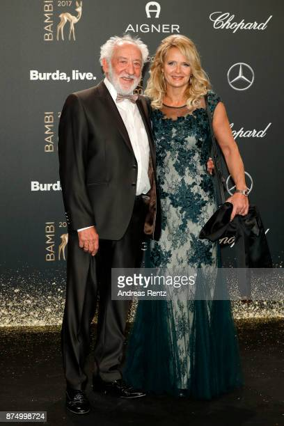 Dieter Hallervorden and Christiane Zander arrive at the Bambi Awards 2017 at Stage Theater on November 16 2017 in Berlin Germany