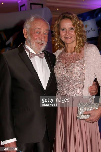 Dieter Hallervorden and Christiane Zander attend the 118th Berlin Press Ball on January 12 2019 in Berlin Germany