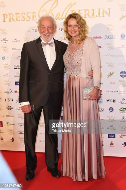 Dieter Hallervorden and Christiane Zander attend the 118th Berlin Press Ball on January 12 2019 in Berlin Germany