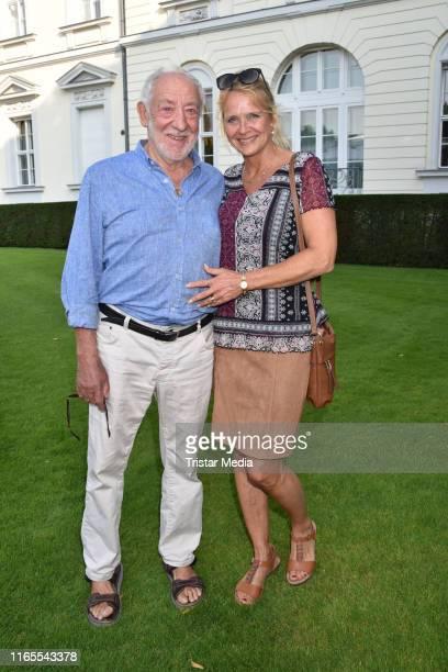 Dieter Hallervorden and Christiane Zander attend the folk festival of German President FrankWalter Steinmeier on August 30 2019 in Berlin Germany