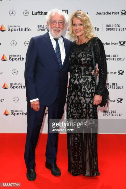 Dieter Hallervorden and Christiane Zander attend the German Sports Gala 'Ball des Sports 2017' on February 4 2017 in Wiesbaden Germany