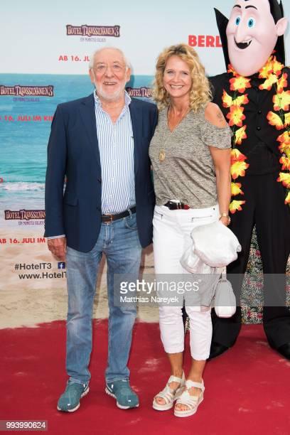 Dieter Hallervorden and Christiane Zander attend the 'Hotel Transsilvanien 3' premiere at CineStar on July 8 2018 in Berlin Germany