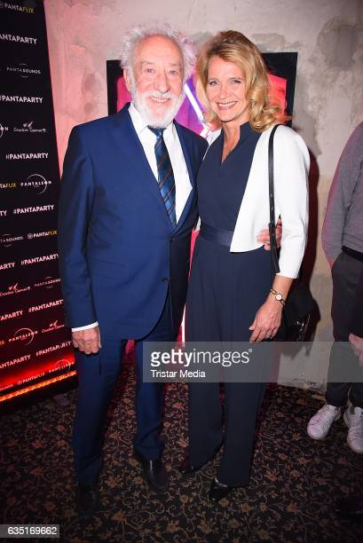 Dieter Hallervorden and Christiane Zander attend the Pantaflix Party At The 67th Berlinale International Film Festival on February 13, 2017 in...