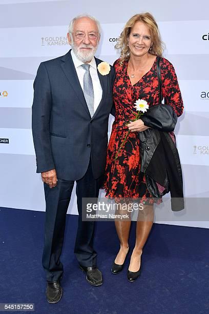 Dieter Hallervorden and Christiane Zander attend the summer party of Produzentenallianz on July 5 2016 in Berlin Germany