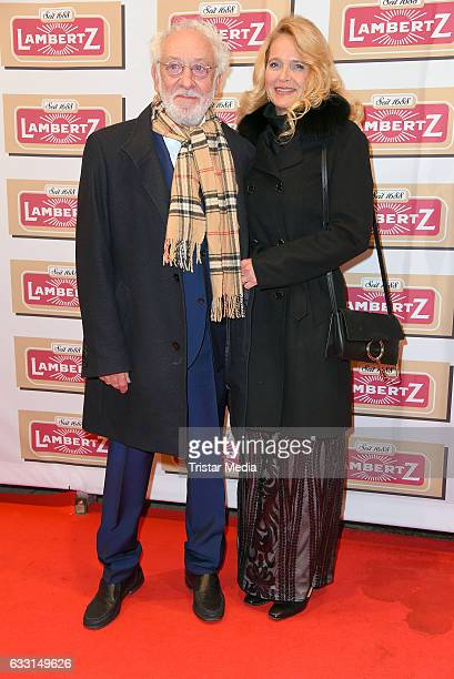 Dieter Hallervorden and his girlfriend Christiane Zander attend the 'Lambertz Monday Schoko Night 2017' on January 30 2017 in Cologne Germany