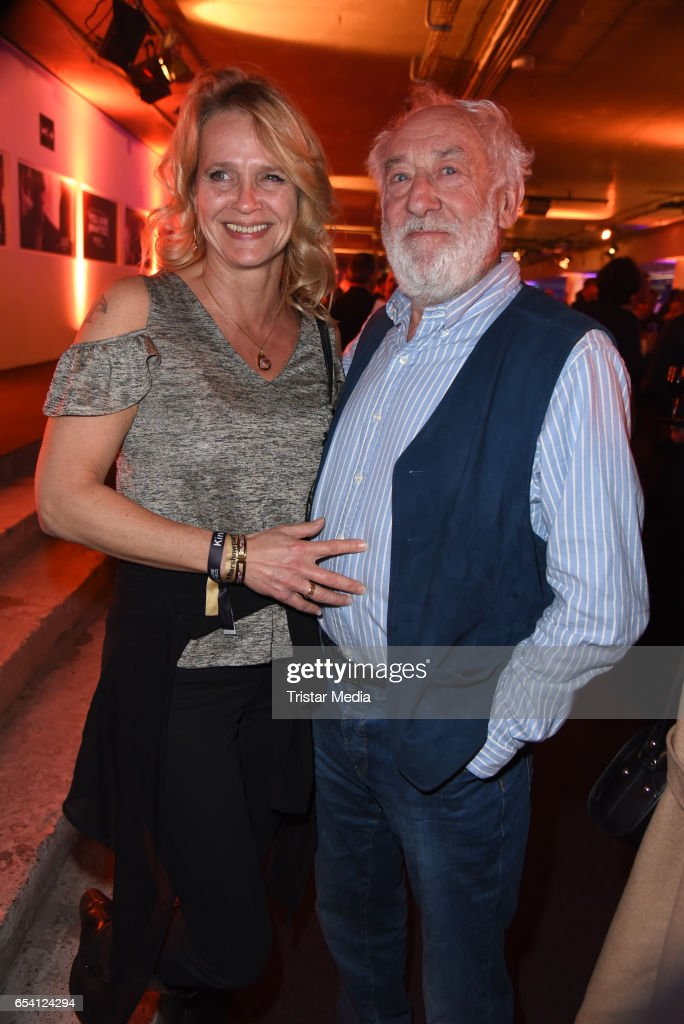 Dieter Hallervorden and his girlfriend Christiane Zander attend the After Party of the premiere of the Amazon series 'You are wanted' at CineStar on March 15, 2017 in Berlin, Germany.