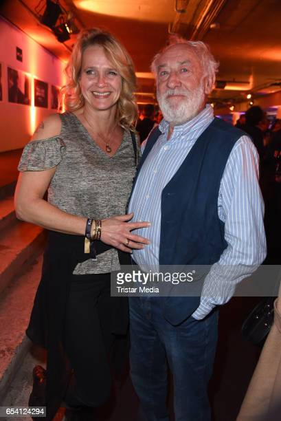 Dieter Hallervorden and his girlfriend Christiane Zander attend the After Party of the premiere of the Amazon series 'You are wanted' at CineStar on...