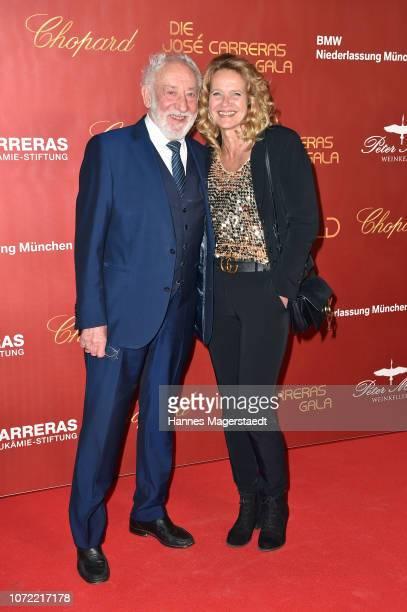 Dieter Hallervorden and his girlfriend Christiane Zanderduring the 24th Annual Jose Carreras Gala at Bavaria Studios on December 12 2018 in Munich...