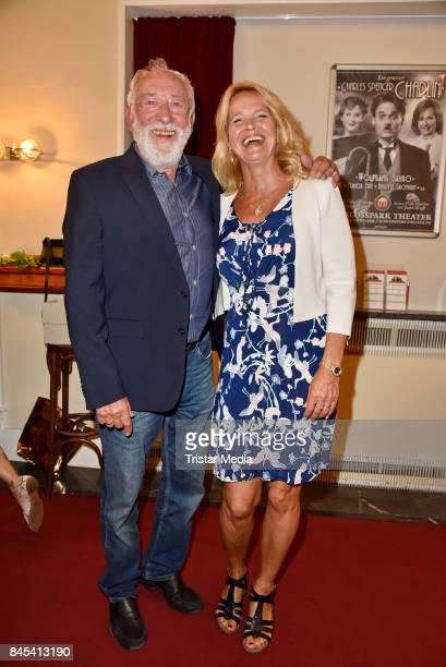 Dieter Hallervorden and his partner Christiane Zander attend the premiere of 'Die Kameliendame' at Schlosspark Thetaer on September 10 2017 in Berlin...