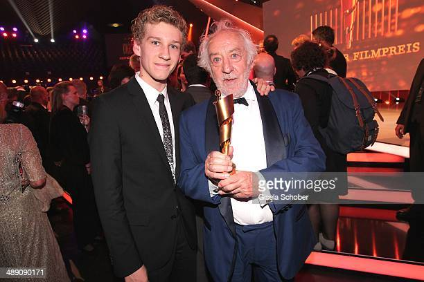 Dieter Hallervorden and his son Dieter jr attend the Lola German Film Award 2014 After party at Tempodrom on May 9 2014 in Berlin Germany