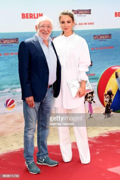 Dieter Hallervorden and Janina Uhse attend the 'Hotel Transsilvanien 3' premiere at CineStar on July 8 2018 in Berlin Germany
