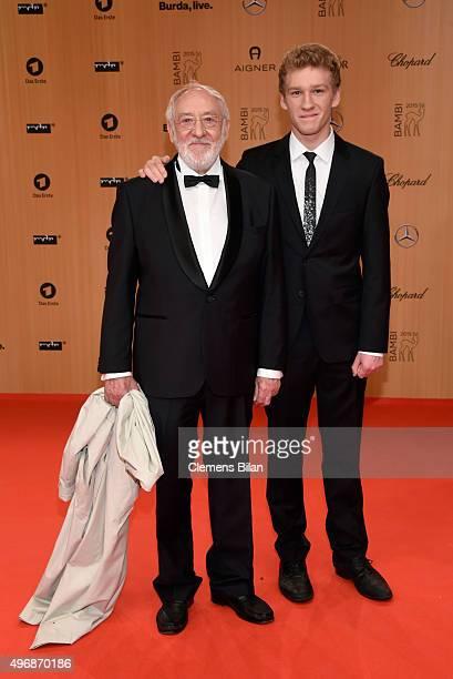 Dieter Hallervorden and son Johannes Hallervorden attend the Bambi Awards 2015 at Stage Theater on November 12 2015 in Berlin Germany
