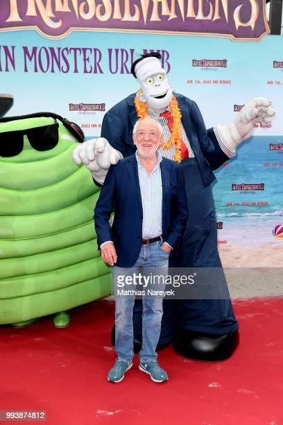 Dieter Hallervorden attends the 'Hotel Transsilvanien 3' premiere at CineStar on July 8 2018 in Berlin Germany