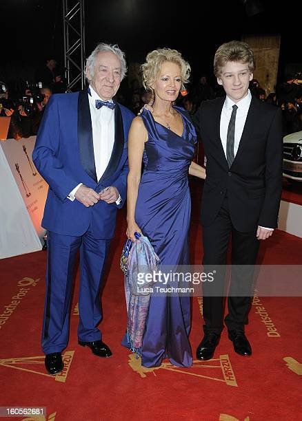 Dieter Hallervorden Claudia Neidig and Johannes Hallervorden attends the 48th Golden Camera Awards at the Axel Springer Haus on February 2 2013 in...