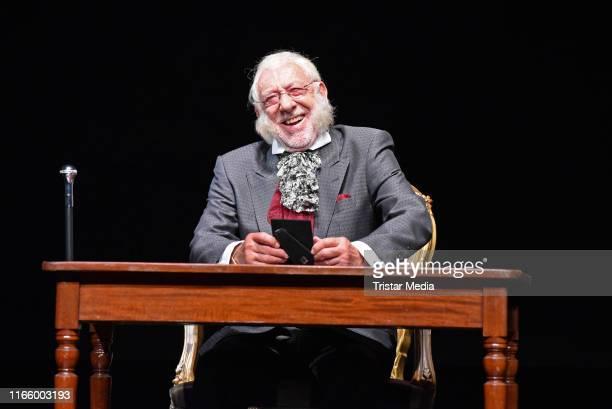 Dieter Hallervorden during the press rehearsal of the play 'Adel Verpflichtet' at Schlosspark Theater on September 4 2019 in Berlin Germany