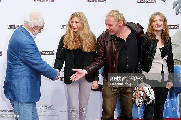 Dieter Hallervorden Lilith Becker Ben Becker and guest attend the 'Hotel Transsilvanien 2' German Premiere on October 11 2015 in Berlin Germany