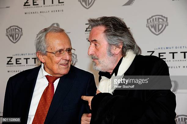 Dieter Hildebrandt Helmut Dietl Weltpremiere vom Kinofilm Zettl Mnchen Bayern Deutschland Europa Roter Teppich Film Filmpremiere Kinofilmpremiere...