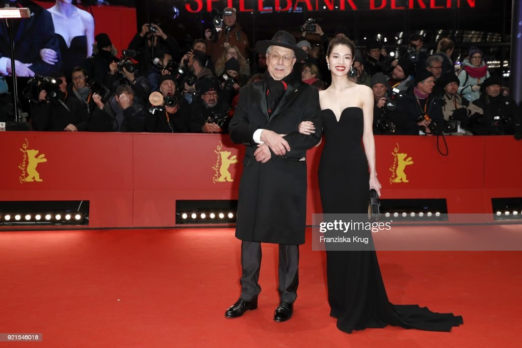 Dieter Kosslick and Elane Zhong Chuxi attend the 'Don't Worry, He Won't Get Far on Foot' premiere during the 68th Berlinale International Film Festival Berlin at Berlinale Palast on February 20, 2018 in Berlin, Germany.