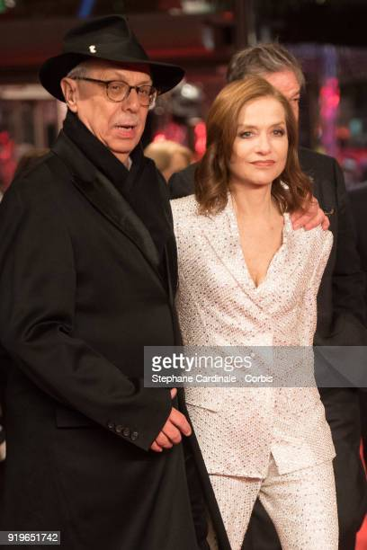 Dieter Kosslick and Isabelle Huppert attend the 'Eva' premiere during the 68th Berlinale International Film Festival Berlin at Berlinale Palast on...