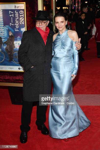 Dieter Kosslick and Juliette Binoche attend the Celle que vous croyez premiere during the 69th Berlinale International Film Festival Berlin at Zoo...
