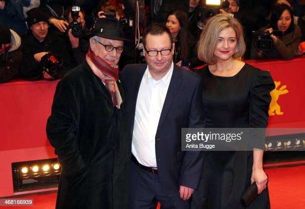 Dieter Kosslick director Lars von Trier and Bente Froge attend the 'Nymphomaniac Volume I ' premiere during 64th Berlinale International Film...
