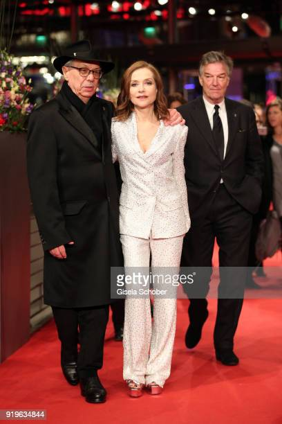 Dieter Kosslick Isabelle Huppert and Benoit Jacquot attend the 'Eva' premiere during the 68th Berlinale International Film Festival Berlin at...